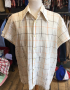 Cream, Brown, Orange Short Sleeved Shirt XXL